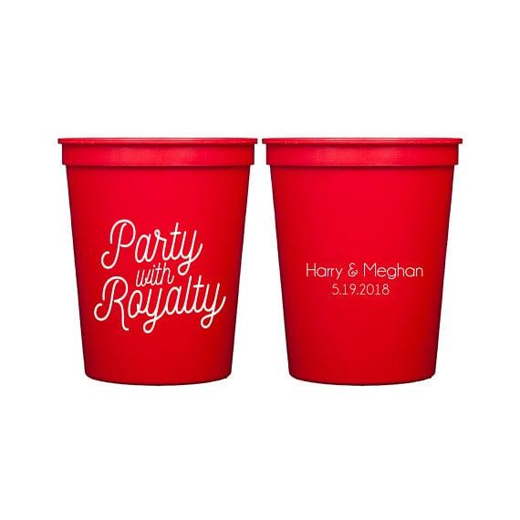 Royal Wedding Watch Party Stadium Cups