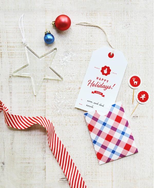 Holiday Greeting Tag and Pocket