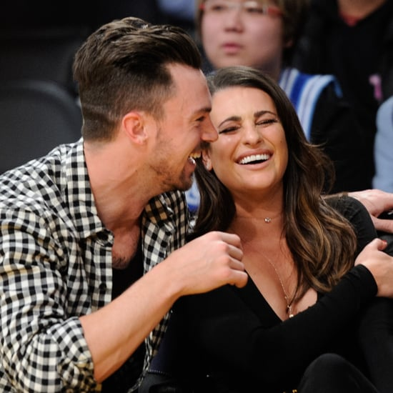 Lea Michele and Matthew Paetz at Lakers Game January 2016