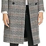 Maje Gilbert Plaid Coat ($845)