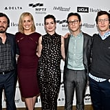 Casey Affleck, Taylor Schilling, Anne Hathaway, Joseph Gordon-Levitt, and Andy Samberg attended the Reel Stories, Real Lives event in Hollywood on Sunday.
