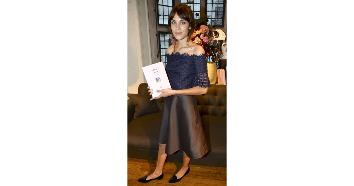 Alexa Chung Wears Carven To Launch Book It Popsugar