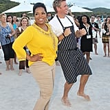 Oprah and Curtis Dancin'