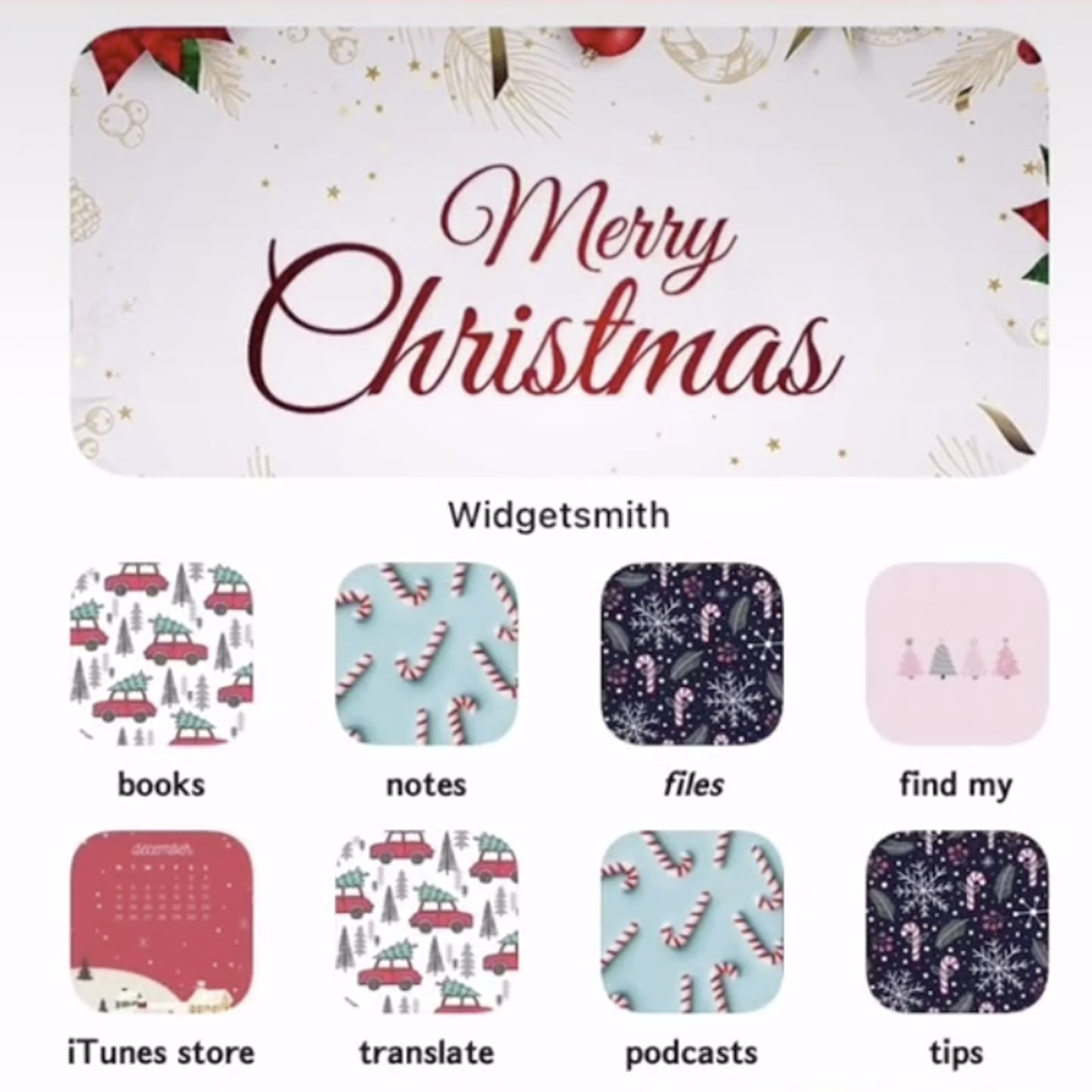 christmas ios 14 home screen aesthetic ideas