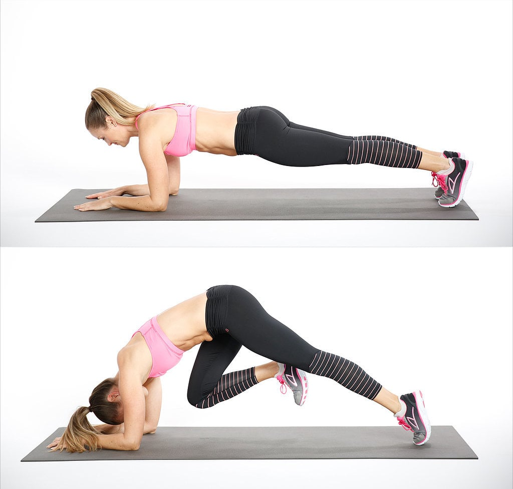 Elbow Plank With Knee Drive