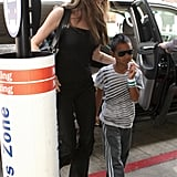 Photos of Angelina Jolie and Maddox Jolie-Pitt