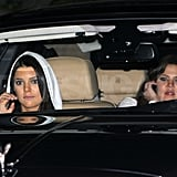 Kim Kardashian's sisters leave her wedding.