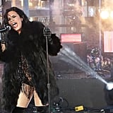 She Started the Year With a Performance in Times Square in New York City