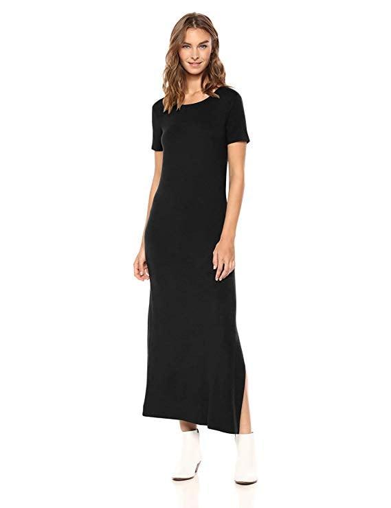 Daily Ritual Jersey Crewneck Short-Sleeve Maxi Dress