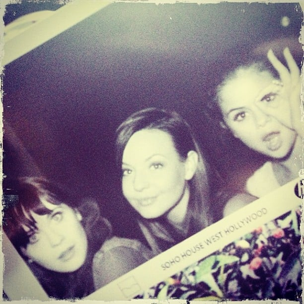 """Selena Gomez had a """"ladies' night"""" with Zooey Deschanel. Source: Instagram user selenagomez"""