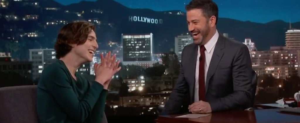"Cutie Timothée Chalamet Meets Oprah, Declares She Has ""the Softest Hands in the World"""