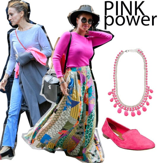 Beyonce and Sarah Jessica Parker Inject Their Street Style with Pops of Neon Pink: How to Wear and What to Buy!