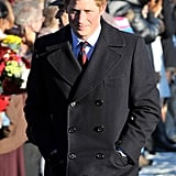Prince Harry bundled up for a chilly Christmas Day in 2010.