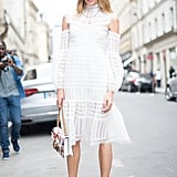 With a White Midi Dress