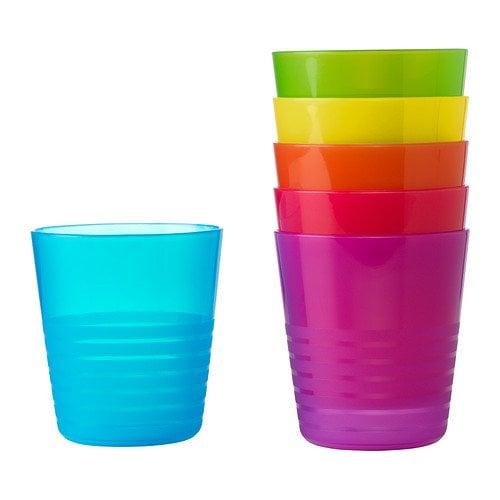 Ikea Kalas BPA-Free Tumbler, Assorted Colors, 6-Pack