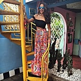 We're loving Shay's crop top and colorful maxi, which the star wore during her trip to Bali.