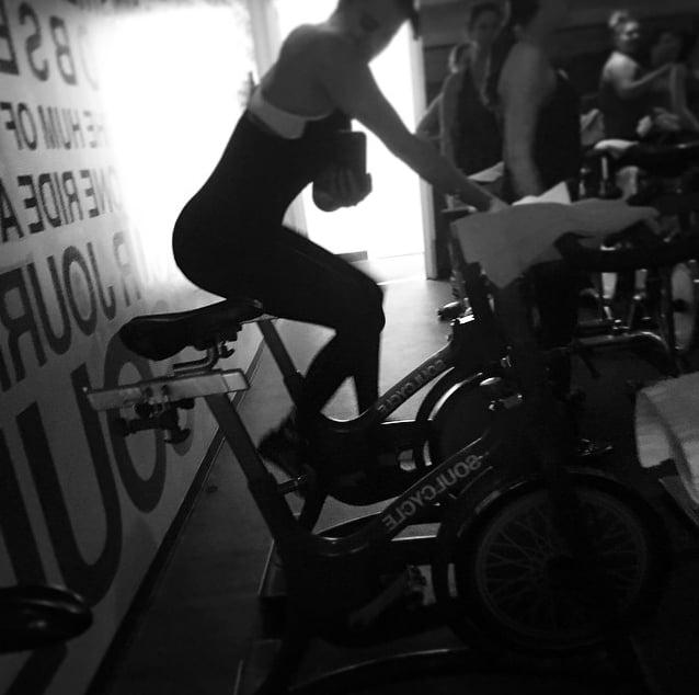Khloé Kardashian snapped a SoulCycle selfie.