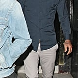 David Beckham had a night out with friends at a pub in London.