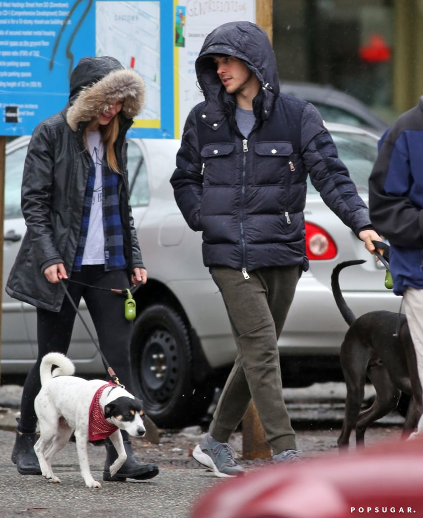 When They Showed Off Their Puppy Love While Taking Their Dogs For a Walk