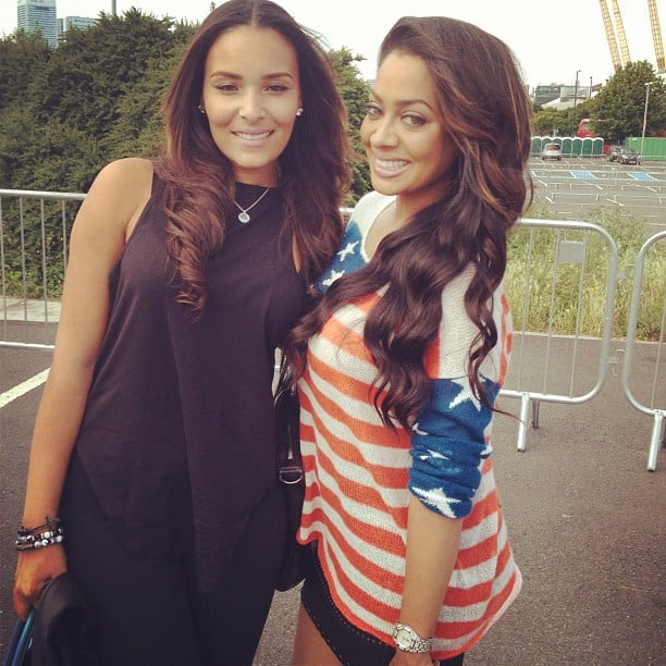 Lala Anthony was in London with a pal to see her husband Carmelo play basketball. Source: Instagram user Lala