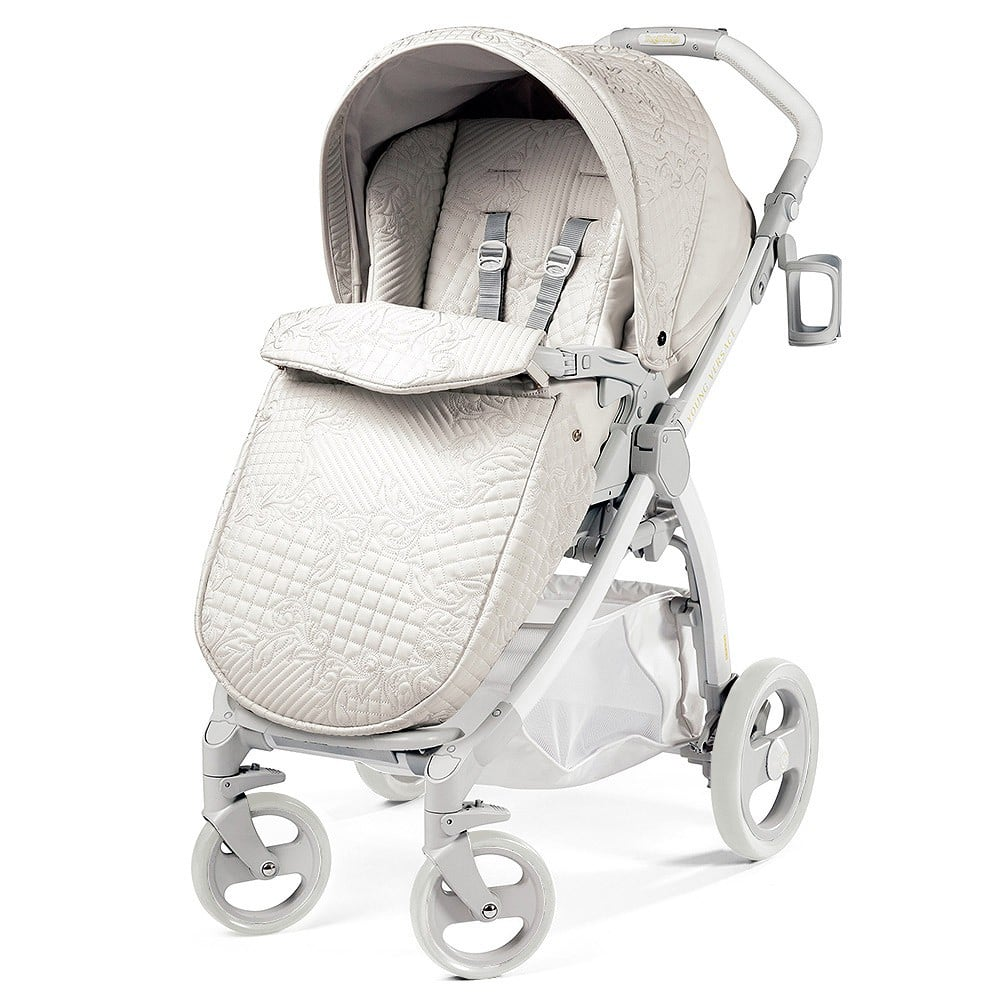Young Versace White Baby Stroller Beautiful Luxury