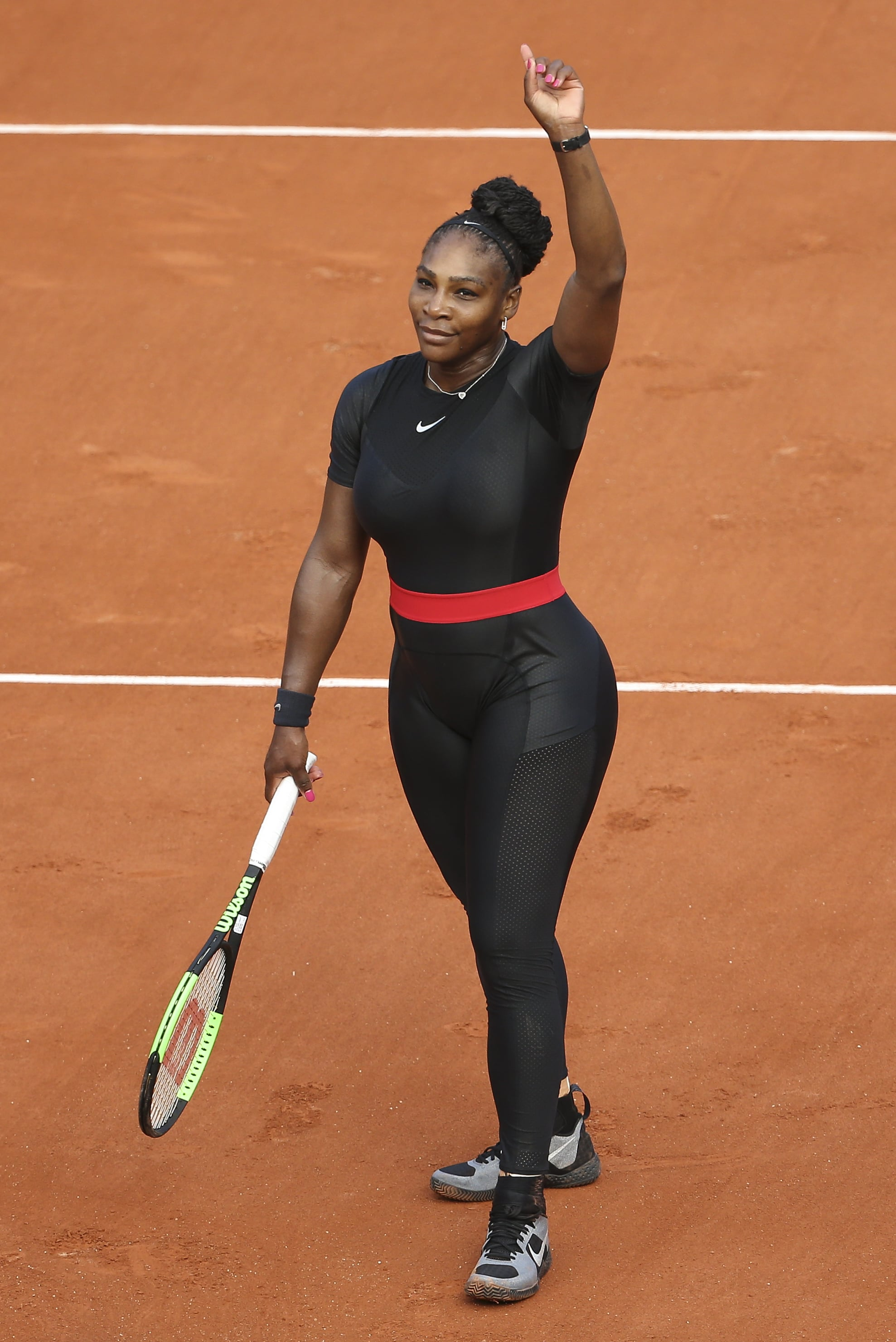 PARIS, FRANCE - MAY 29: Serena Williams of USA celebrates her first round victory during Day Three of the 2018 French Open at Roland Garros on May 29, 2018 in Paris, France. (Photo by Jean Catuffe/Getty Images)