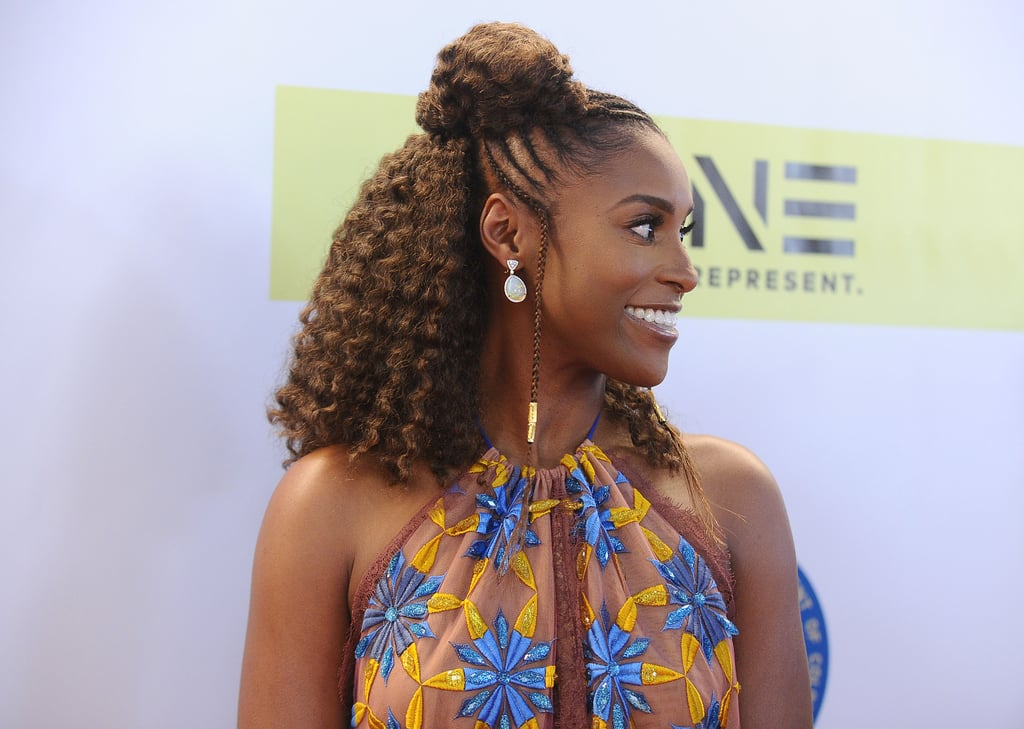 Issa Rae's Half-Up, Half-Down Hairstyle