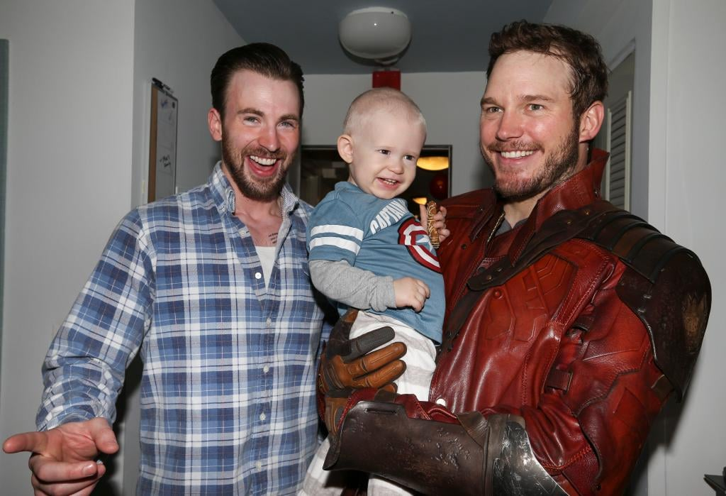 "Chris Pratt and Chris Evans followed through on their supersweet Super Bowl bet in Boston on Friday, stopping by Boston nonprofit Christopher's Haven to meet with kids. The nonprofit is a community for kids and families as they battle cancer, and during the actors' visit, they snapped pictures with some of the families they met. Sticking to the bet, Chris Pratt dressed as his Guardians of the Galaxy character, Star-Lord, while Chris Evans proudly held up a Patriots jersey as a nod to his winning team.  The pair's thoughtful bet has raised nearly $27,000 for charity, as they invited fans to donate to Seattle Children's Hospital and Christopher's Haven. Joyce Duvall, the executive director of Christopher's Haven, opened up about what it's meant for the organizations, saying, ""The generosity of Chris Evans and Chris Pratt is overwhelming. They have turned a simple, friendly wager into something very significant for both Christopher's Haven and Seattle Children's Hospital. The fun and goodwill that they have generated will stay with the children a long time."" Take a look at the sweet snaps from their day at Christopher's Haven."