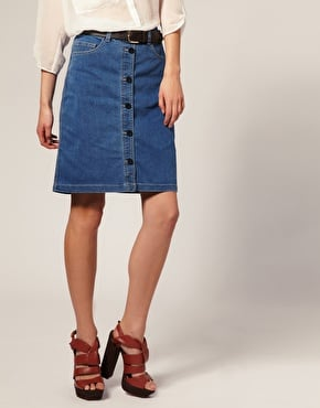 Thanks to Stella McCartney and Chloe, denim skirts are cool again. Jump on the trend in this button-up version from Vera Moda ($45).