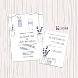 Lavender and Mason Jar Wedding Invitation