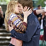 Chace Crawford and Kaylee DeFer shared a kiss for the cameras.