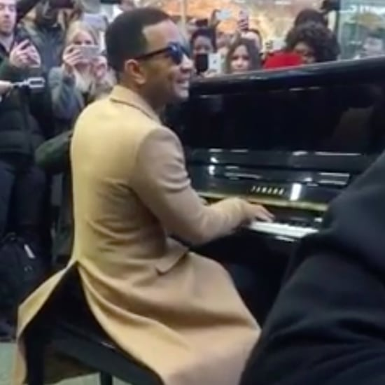 John Legend Performs in London Train Station March 2017