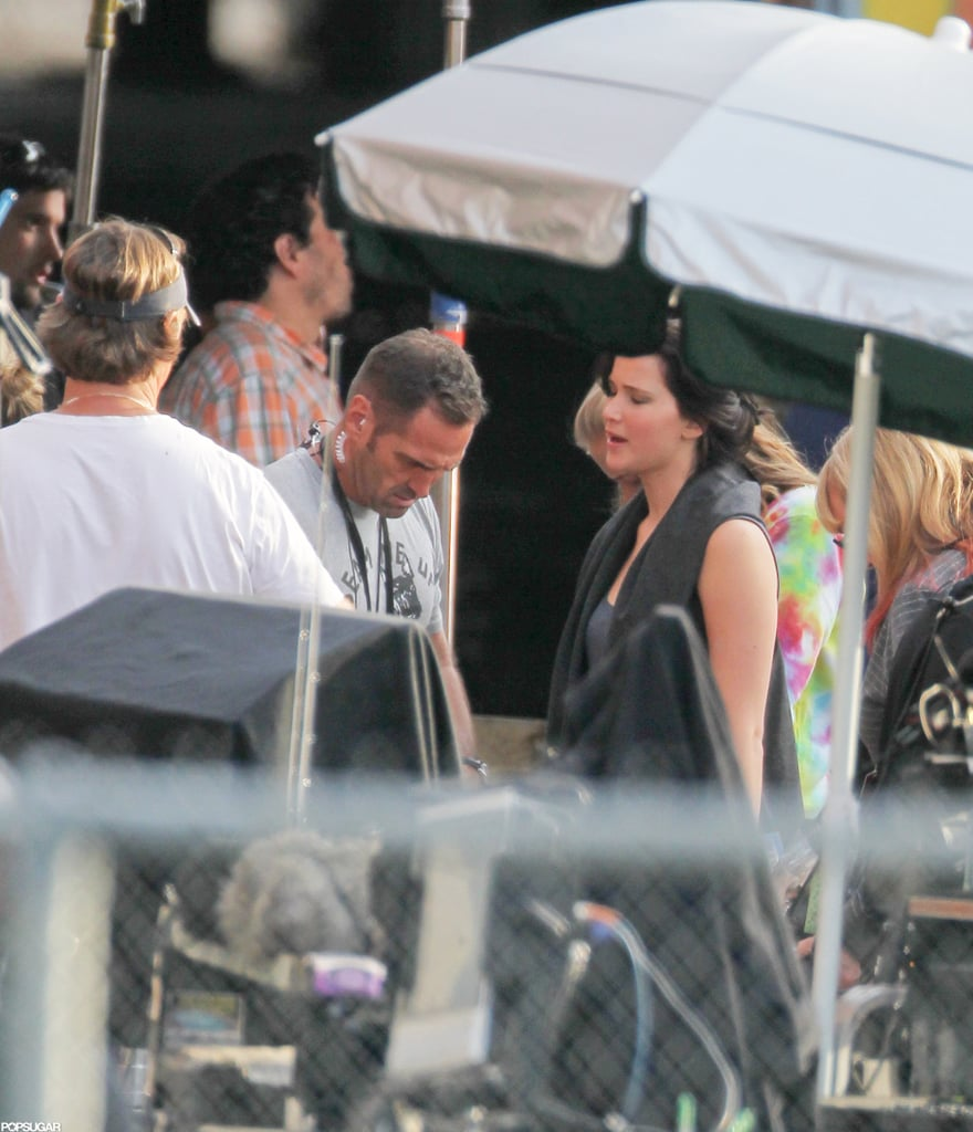 Jennifer Lawrence was on the set of The Hunger Games: Catching Fire in Atlanta.