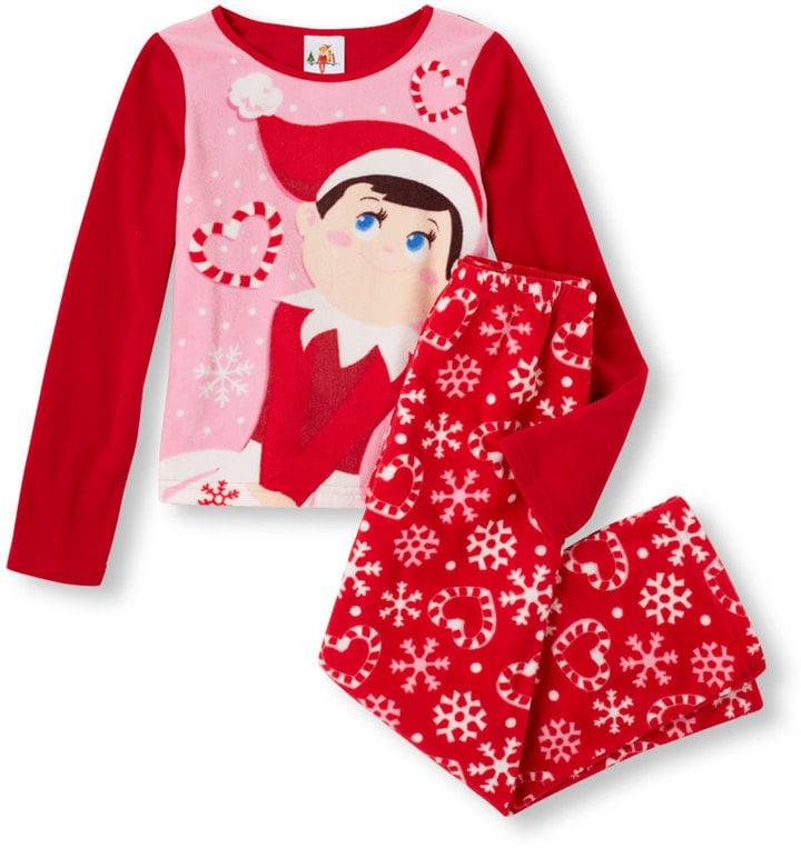 Children's Place Elf On The Shelf Top & Pants PJ Set
