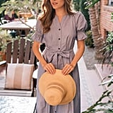 Gal Meets Glam Collection Daisy Cotton Dobby Shirtdress