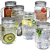 Estilo Mason Jar Mugs With Handles