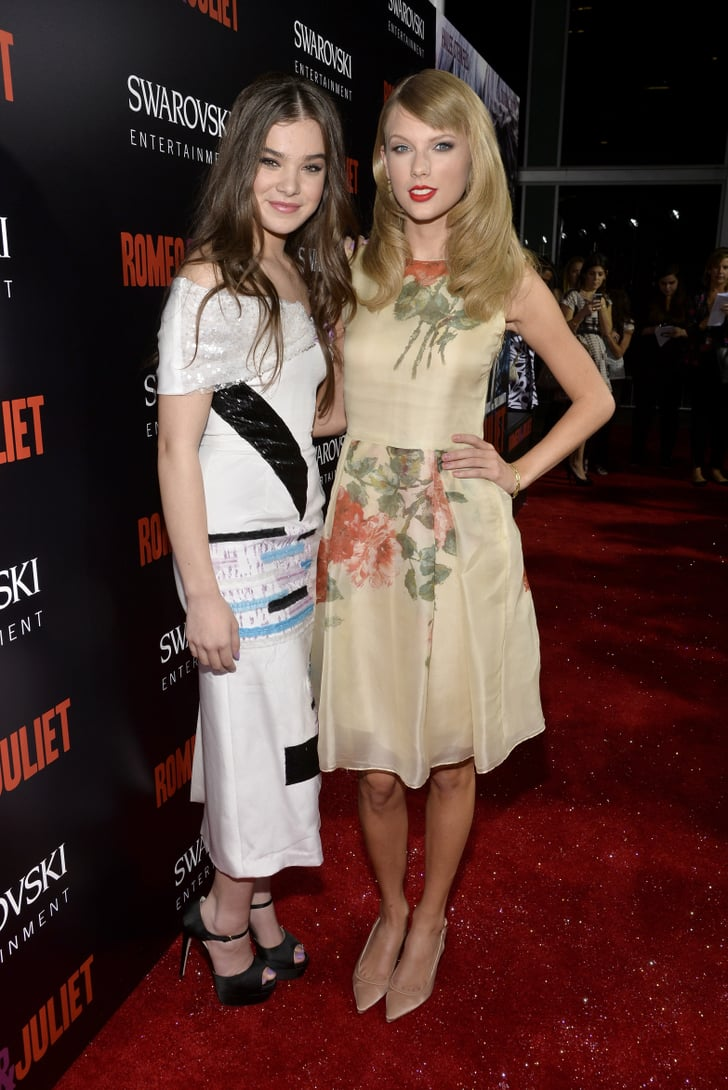 Hailee Steinfeld and Taylor Swift met up on the red carpet.
