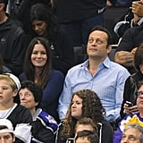 Vince Vaughn sat with Kyla Weber at the LA Kings Stanley Cup finals game in LA.