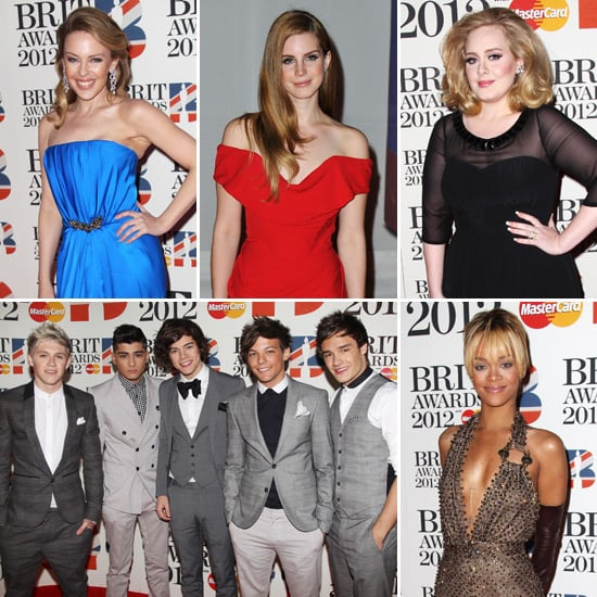 2012 Brit Awards Celebrity Pictures of Kylie Minogue, Adele, Lana Del Rey, One Direction, Rihanna and More