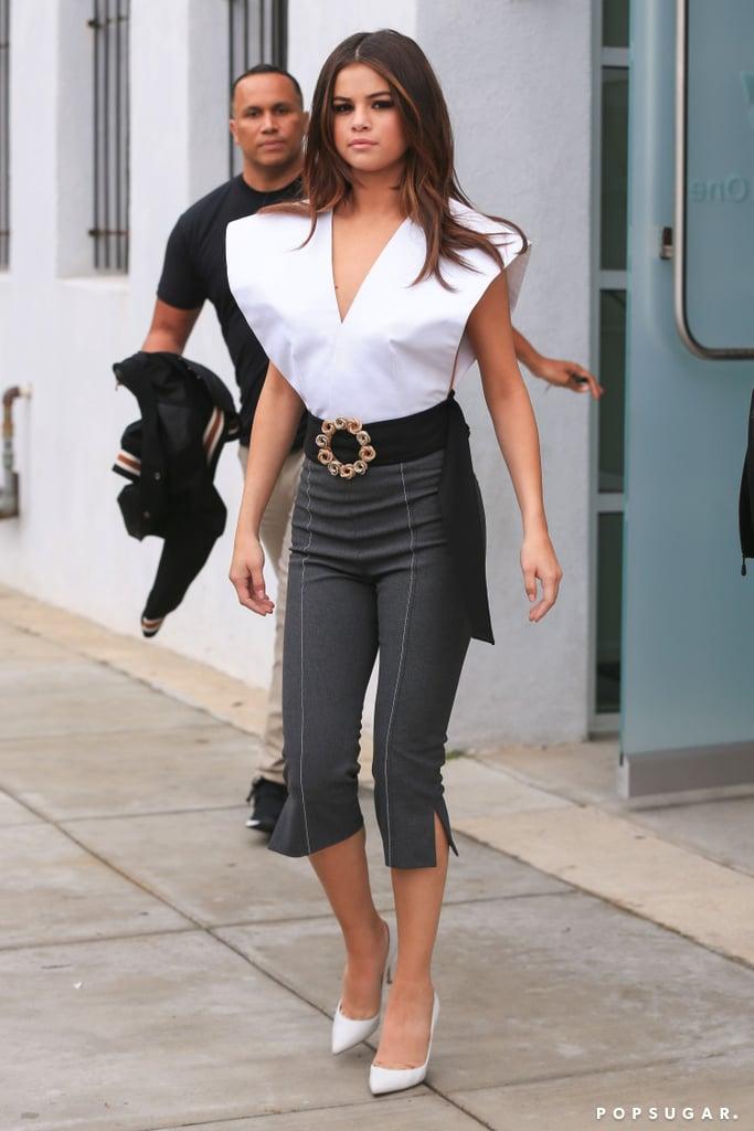 Selena Gomez Wearing Jacquemus Popsugar Fashion