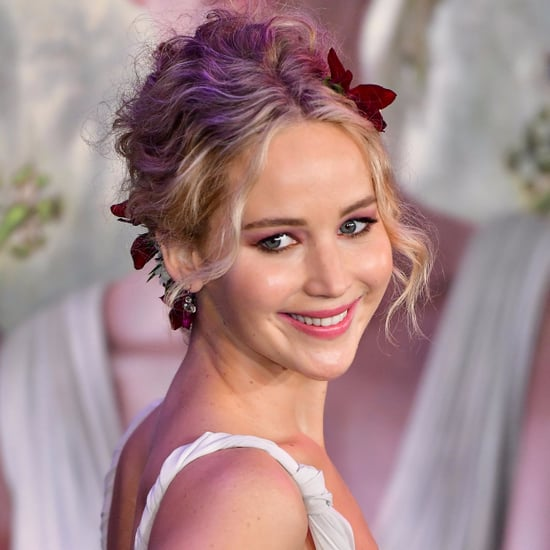 Jennifer Lawrence Flower Updo
