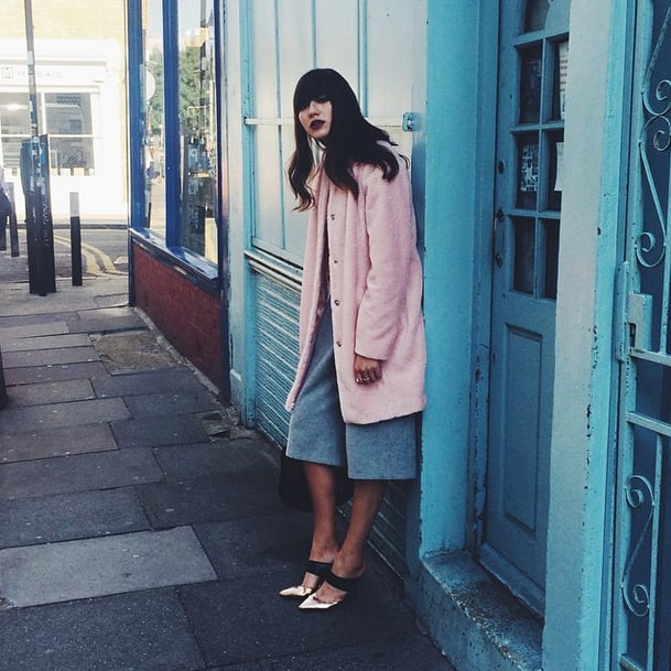 Tailored culottes could totally be mistaken for a midi skirt when layered with a thick coat.