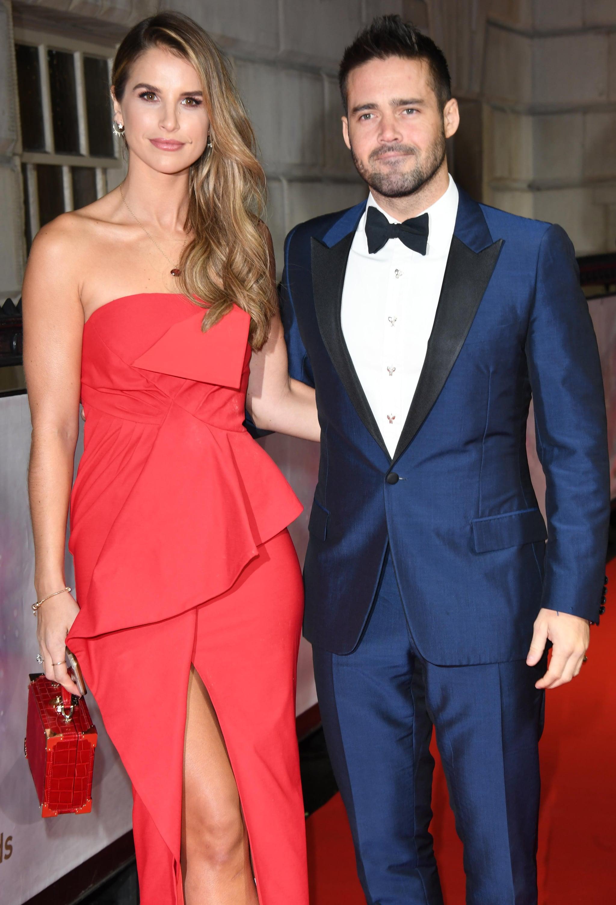 LONDON, ENGLAND - DECEMBER 13:  Vogue Williams and Spencer Matthews