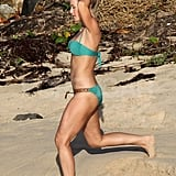 Julianne Hough ran in a bikini.