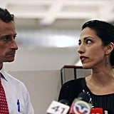 Abedin spoke during a press conference on July 23, 2013 in support of her husband.