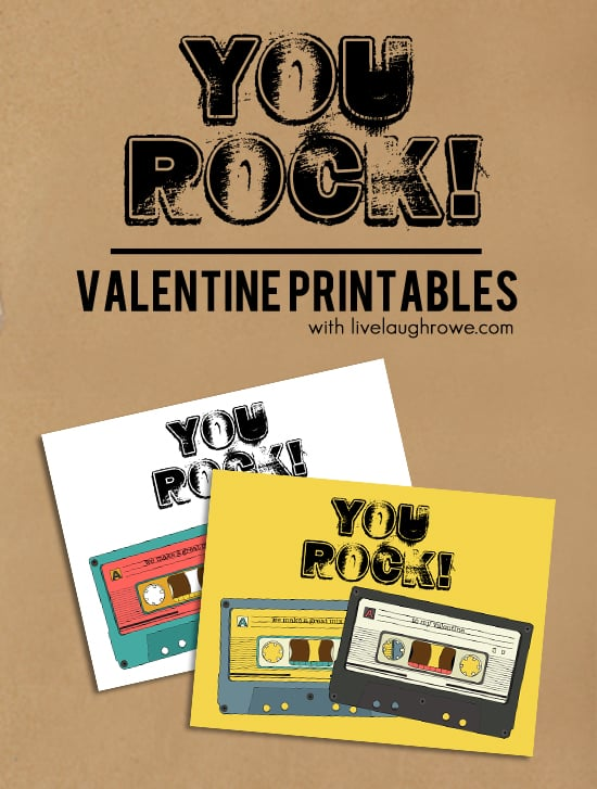 graphic regarding You Rock Valentine Printable referred to as On your own Rock Printable Valentines Working day Absolutely free Printable Playing cards