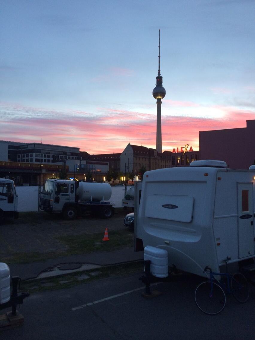 """""""Goodbye Berlin. With deepest thanks to our remarkable #Mockingjay cast and crew."""" Source: Twitter user ninajacobson"""
