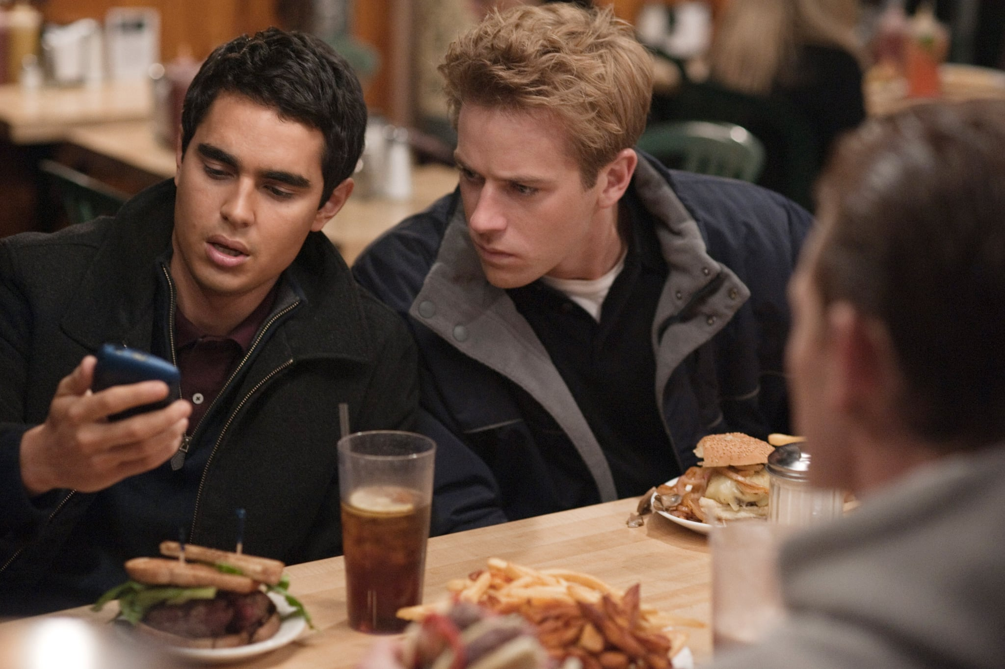 THE SOCIAL NETWORK, from left: Max Minghella, Armie Hammer, 2010. ph: Merrick Morton/Columbia Pictures/Courtesy Everett Collection
