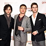 Chace Crawford, Penn Bagdley, and Ed Westwick out in NYC.