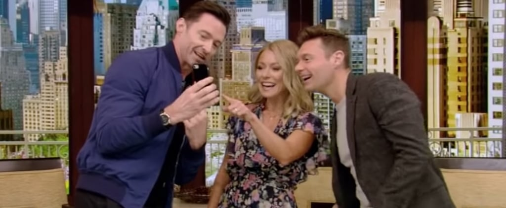 Hugh Jackman FaceTiming His Wife on Kelly and Ryan Video